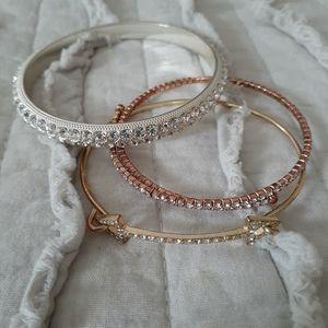 Set of 3 sparkle  bracelets